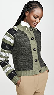 GANNI Knit Pattern Cardigan