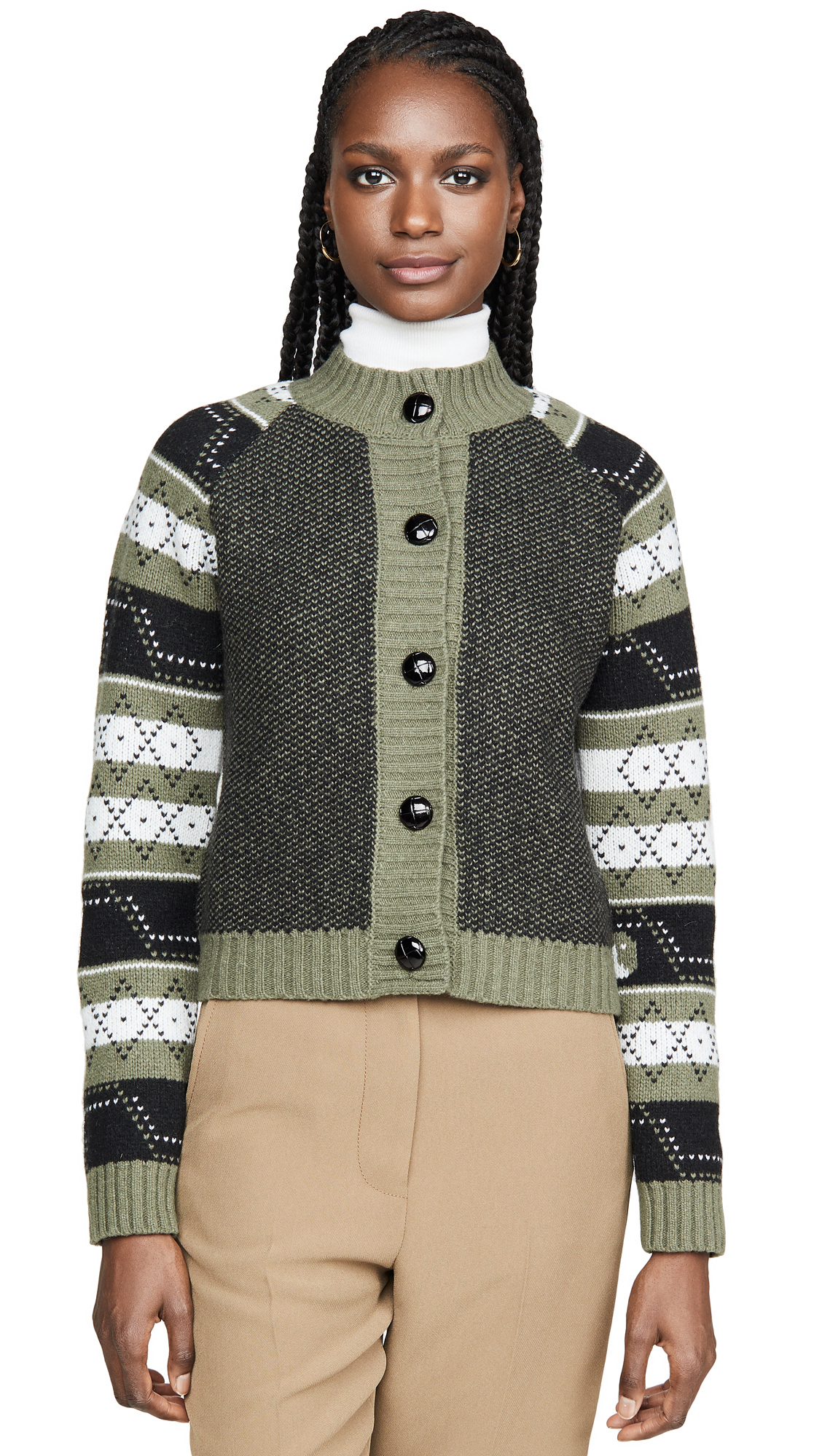 Buy GANNI online - photo of GANNI Knit Pattern Cardigan