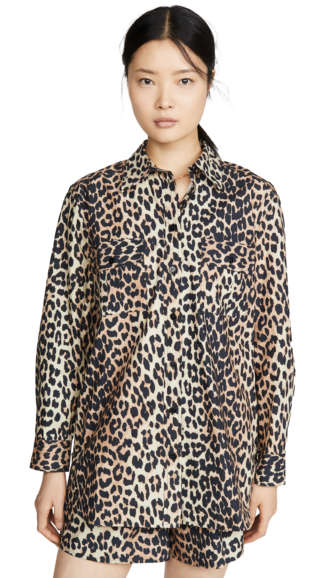 Buy GANNI online - photo of GANNI Leopard Top