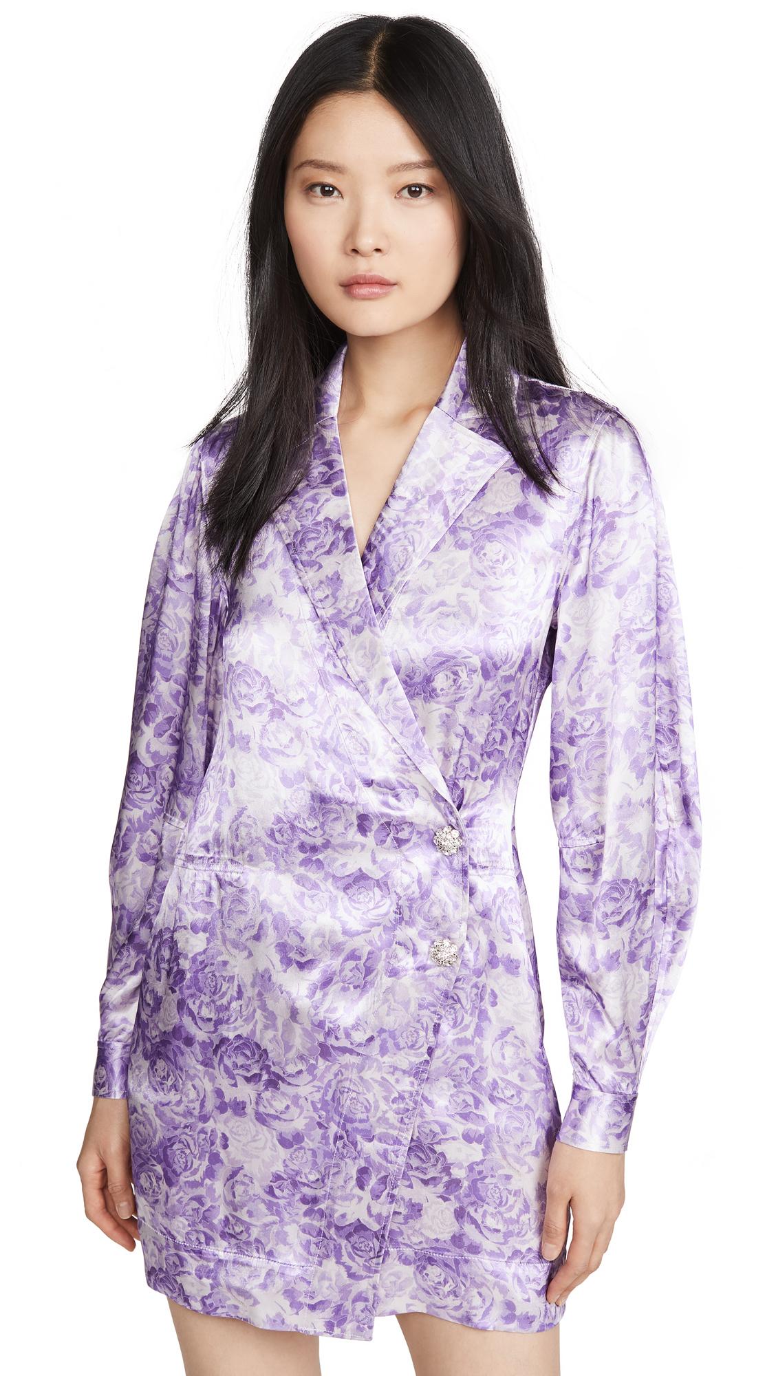 Buy GANNI online - photo of GANNI Heavy Satin Dress