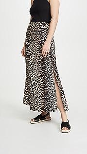 GANNI Printed Poplin Skirt