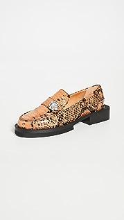 GANNI Jewel Loafers