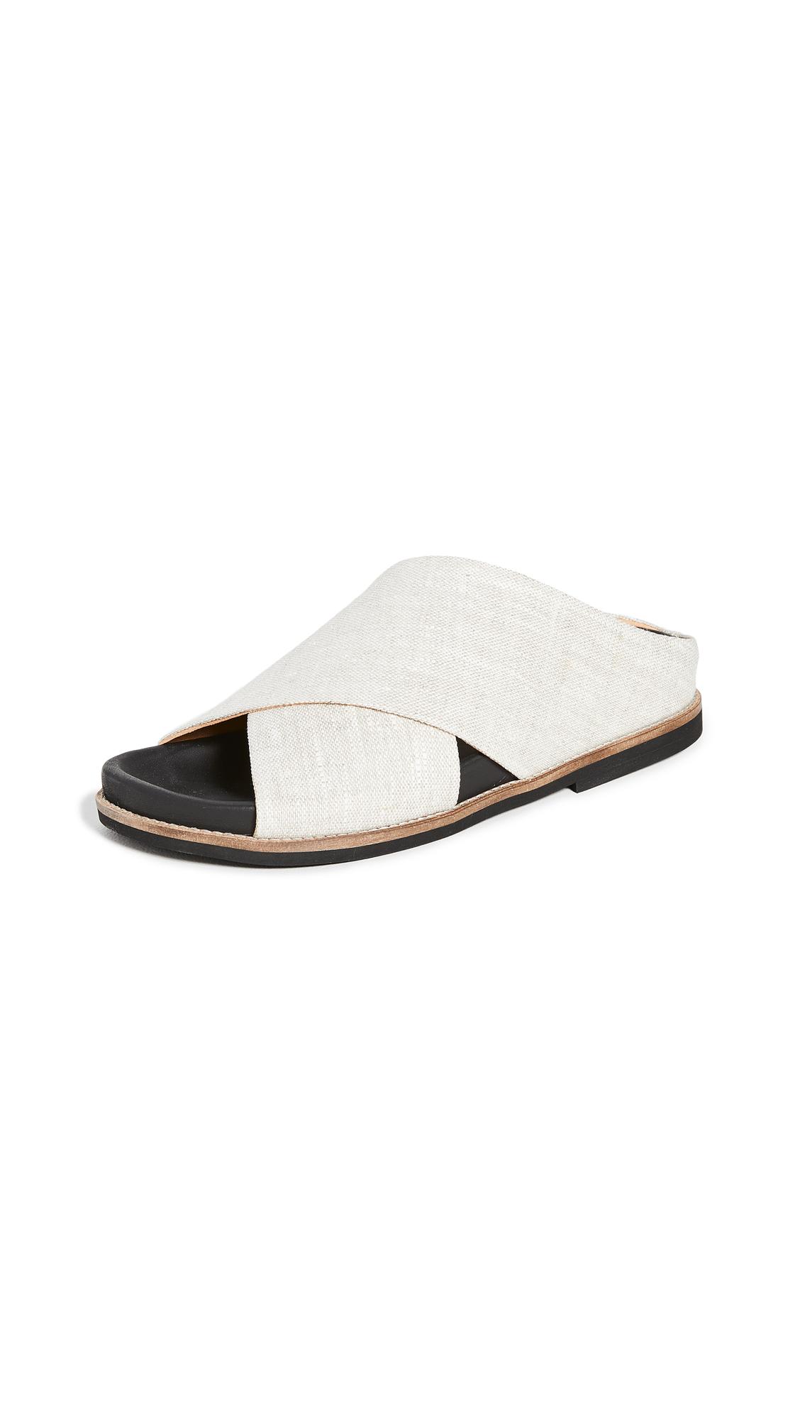 Buy GANNI Flat Slides online, shop GANNI