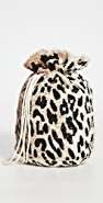 GANNI Beaded Leopard Pouch