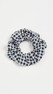 GANNI Printed Crepe Scrunchie