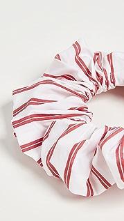GANNI Stripe Cotton Scrunchie