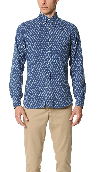 Gant Rugger Indigo Oxford Oblong Shirt
