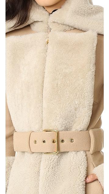 Gareth Pugh Double Shearling Coat