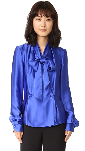 Gareth Pugh Wrap Front Top - Blue