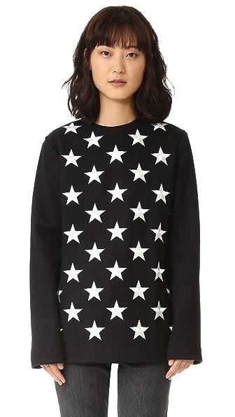 Gareth Pugh Длинный пуловер со звездами