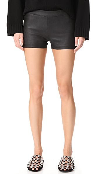 Gareth Pugh Leather Shorts In Black