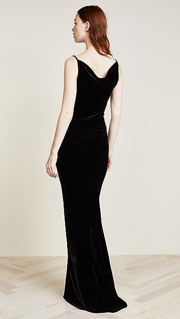 Gareth Pugh Bias Cowl Dress