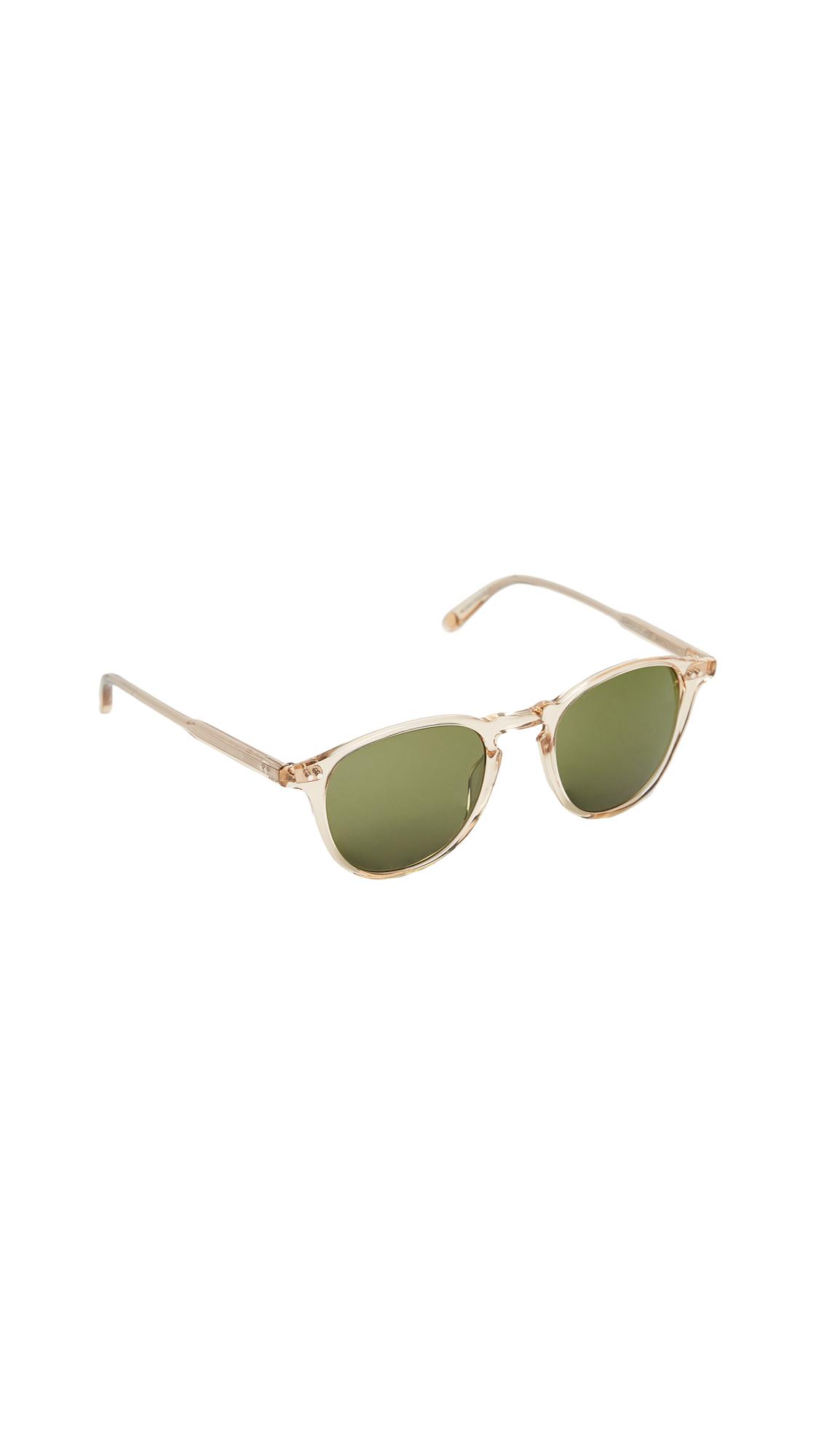 GARRETT LEIGHT Hampton Sunglasses - Champagne/Pure Green