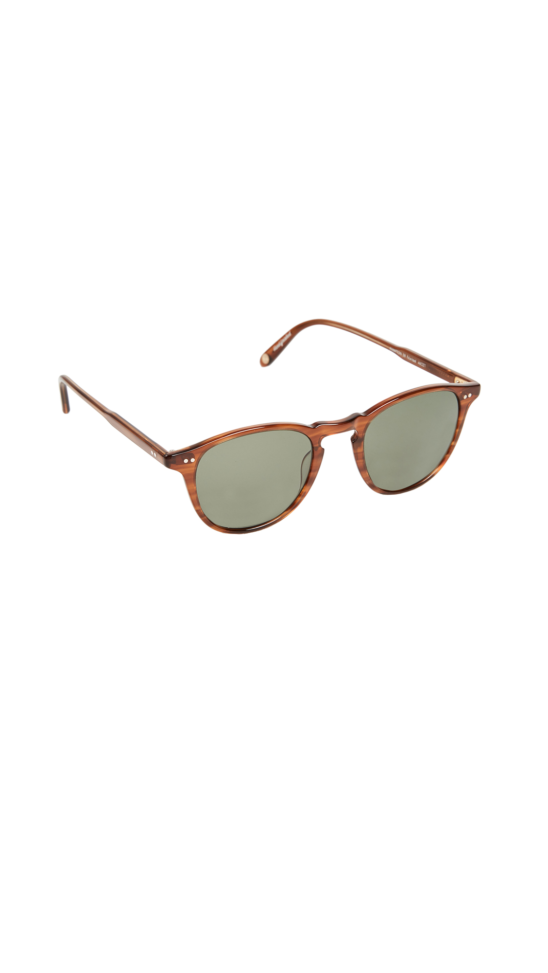 GARRETT LEIGHT Hampton Polar Sunglasses - Demi Blonde/G15 Polar