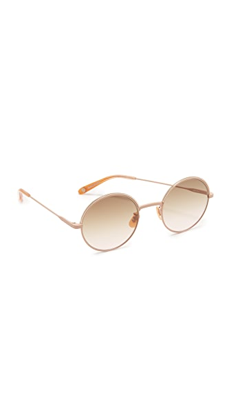 GARRETT LEIGHT Seville Sunglasses - Powder Beige/Flat Mink