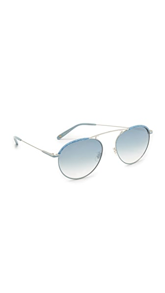 GARRETT LEIGHT Innes Denim Sunglasses