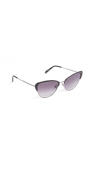 GARRETT LEIGHT Vista Sunglasses In Light Gunmetal/Onyx