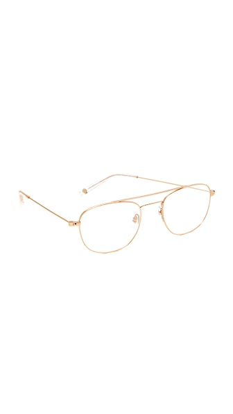GARRETT LEIGHT Club House Glasses - Gold/Clear