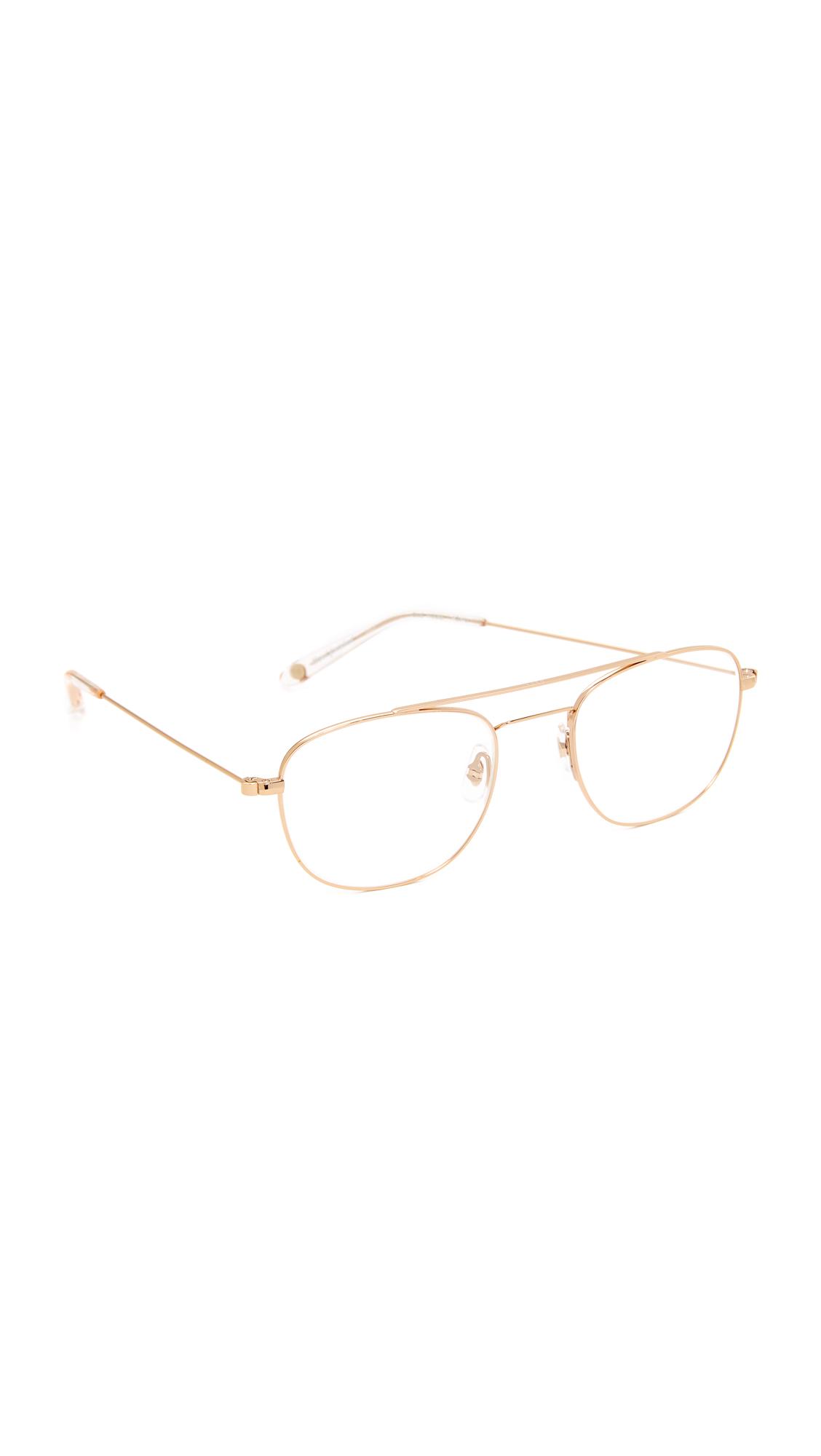 GARRETT LEIGHT Club House Glasses - Gold/Clear