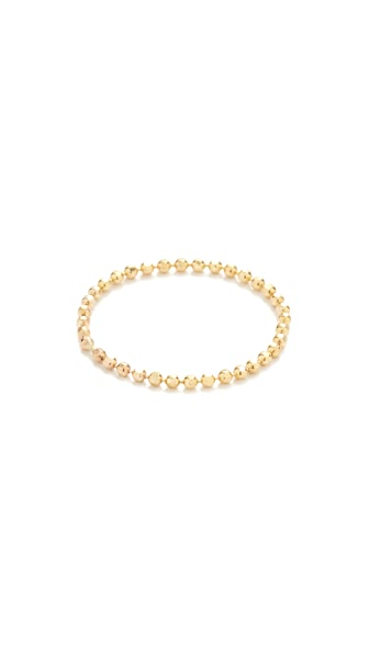 Gabriela Artigas Soft Ball Chain Ring - Yellow Gold