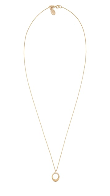 Gabriela Artigas 14k Gold Pave Small Egg Pendant Necklace