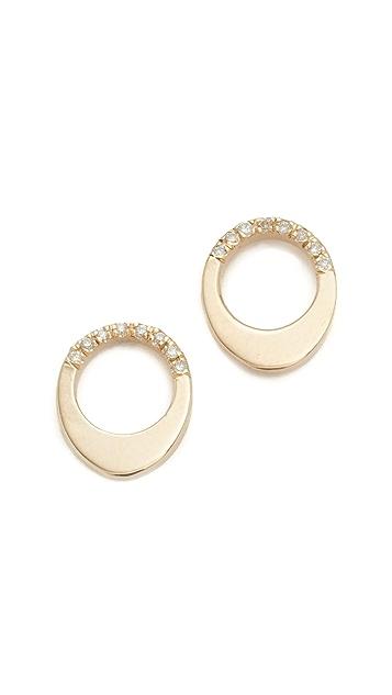 Gabriela Artigas 14k Gold Pave Small Egg Earrings