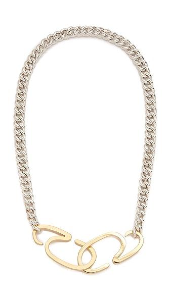 Gabriela Artigas G Clasp Choker Necklace - Silver/Gold