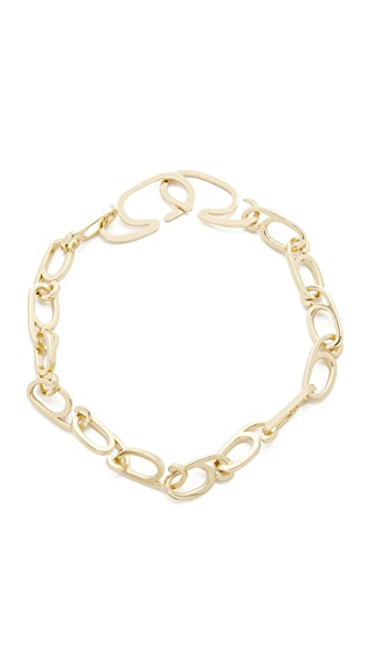 Gabriela Artigas G Choker Necklace In Gold