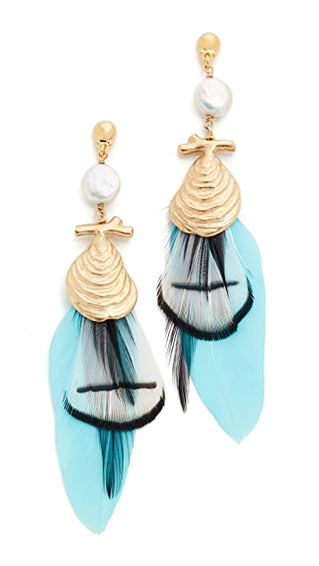 GAS Bijoux Morea Capri Plume Earrings