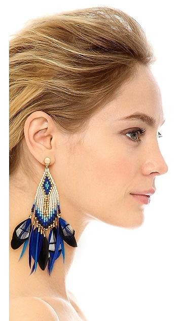 GAS Bijoux Huichol Plume Earrings