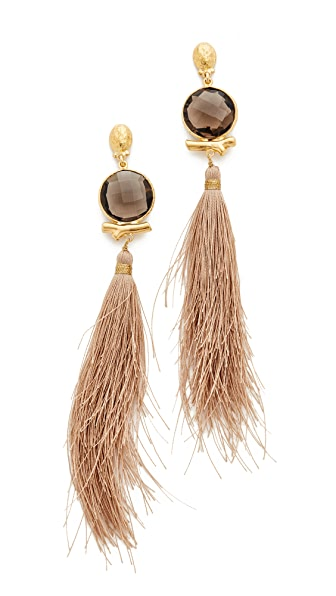 GAS Bijoux Serti Bella Pompon Earrings