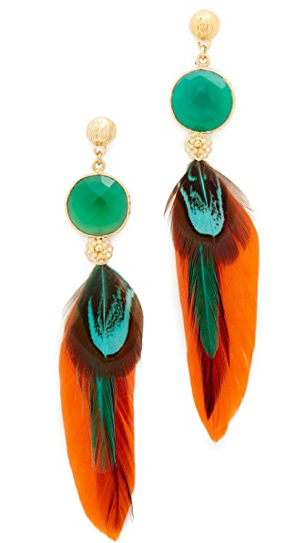 GAS Bijoux Serti Plume Earrings
