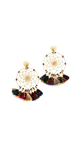 GAS Bijoux Attrape Reve Plumes Earrings