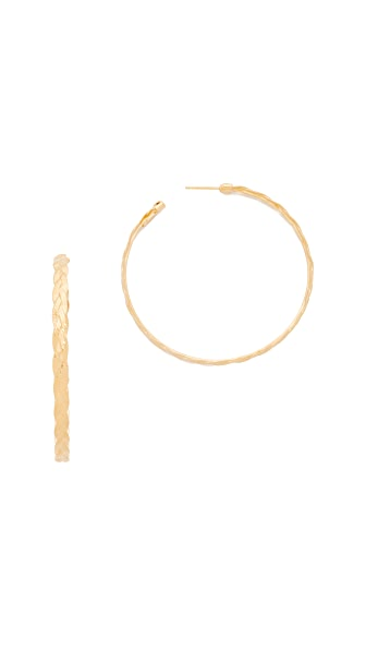 GAS Bijoux Tresse Large Hoop Earrings