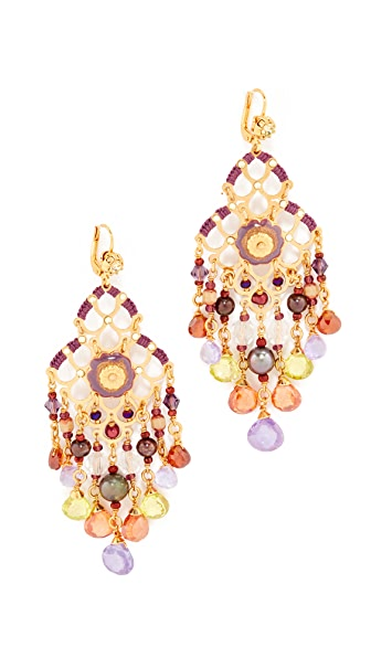 GAS Bijoux Small Reine Earrings - Amber