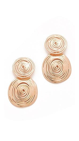 GAS Bijoux Wave Earrings - Rose Gold