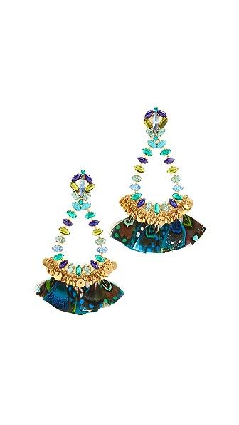 GAS Bijoux Riviera Earrings - Navy Blue
