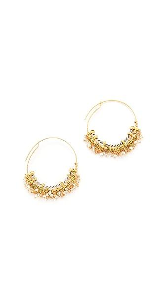 GAS Bijoux Grappia Earrings In White