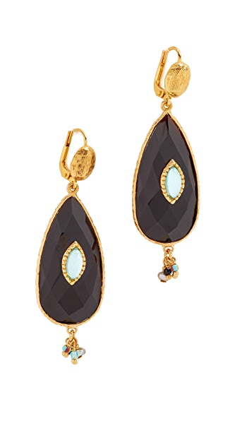 GAS Bijoux Serti Earrings - Black