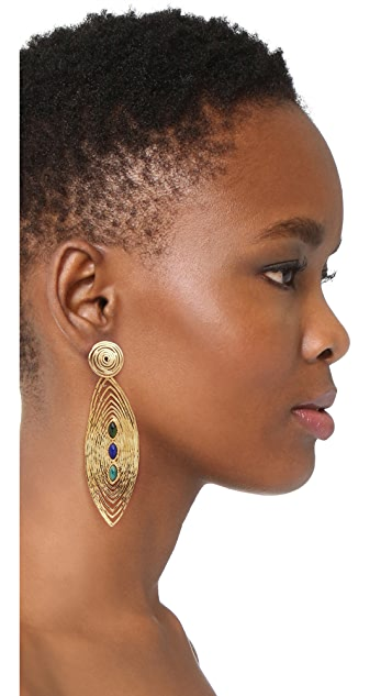 GAS Bijoux Long Wave Earrings