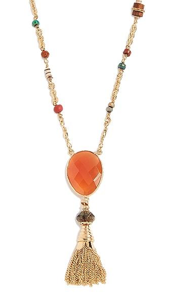 GAS Bijoux Collier Serti Holly Pom Pom Necklace In Gold