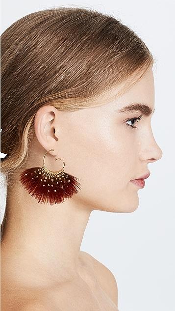 GAS Bijoux Bo Buzios Mini Plume Earrings