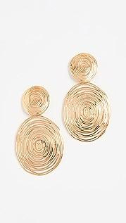 GAS Bijoux 波纹形大号耳环