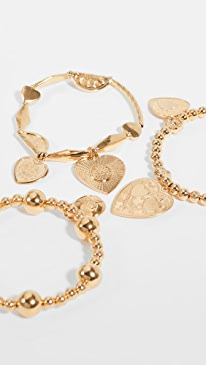 MOSCHino Womens Gold Metal Letter Necklace+Bracelets Ladies Jewelry MH-de