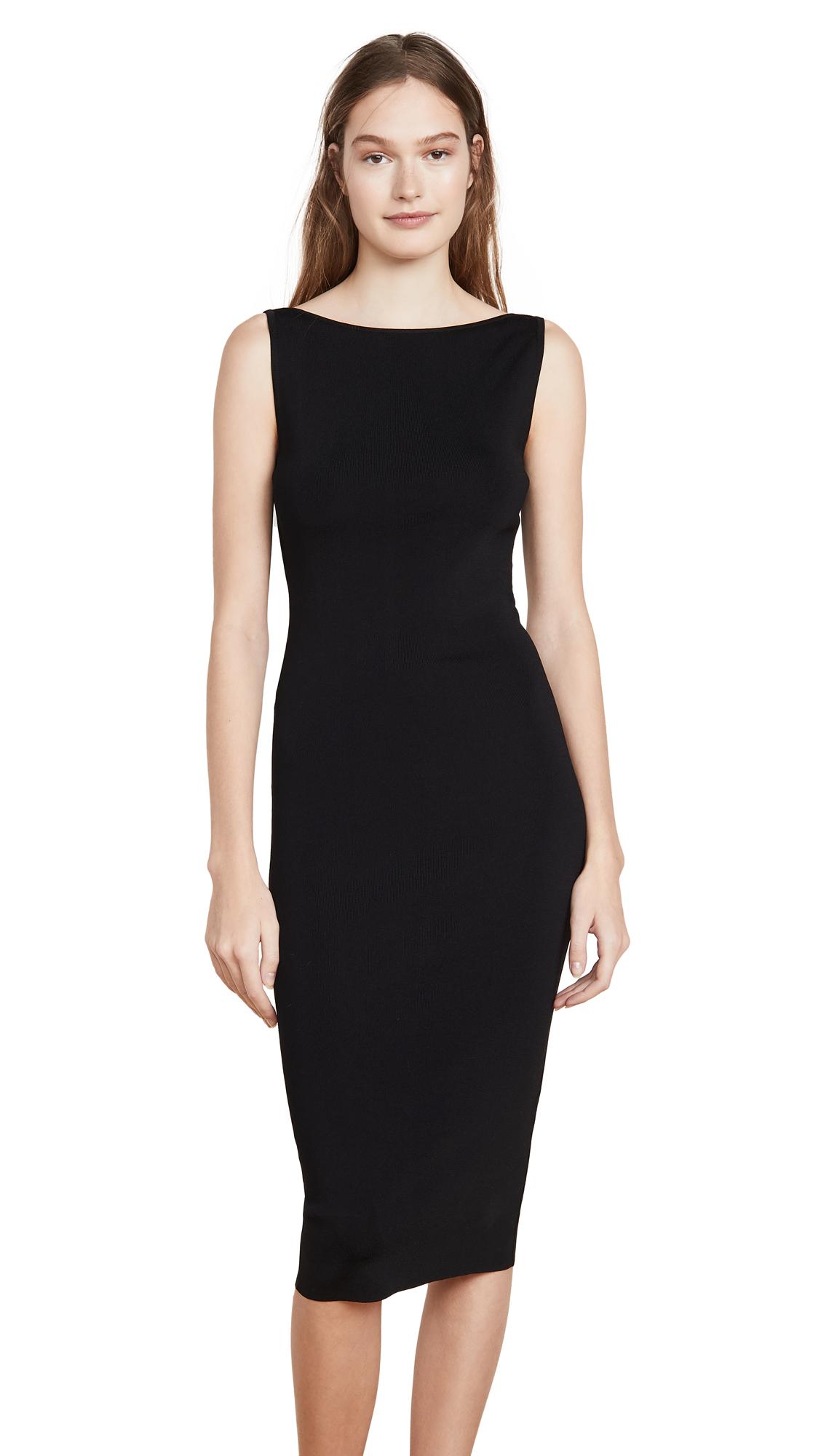 Buy GAUGE81 online - photo of GAUGE81 Lausanne Open Back Little Black Dress