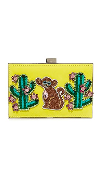 Gedebe Monkey and Cactus Clutch In Multi