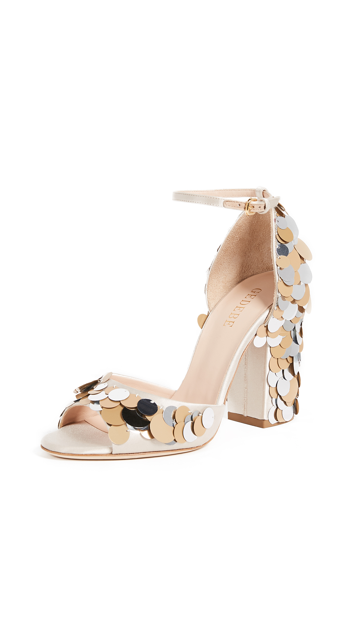 Gedebe Jenny Sandals - Silver/Gold