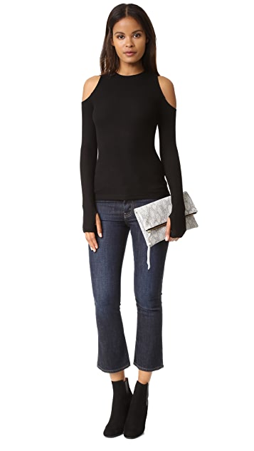 GETTING BACK TO SQUARE ONE The Cold Shoulder Sweater