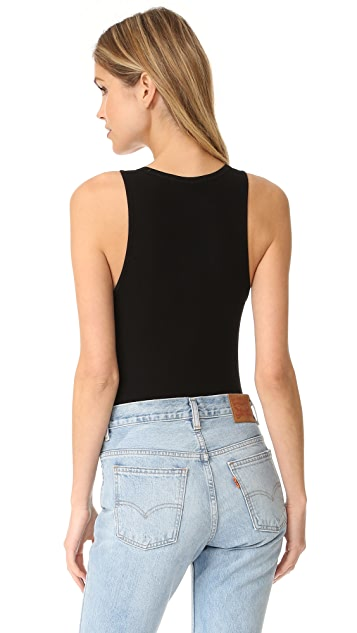 GETTING BACK TO SQUARE ONE Button Front Bodysuit