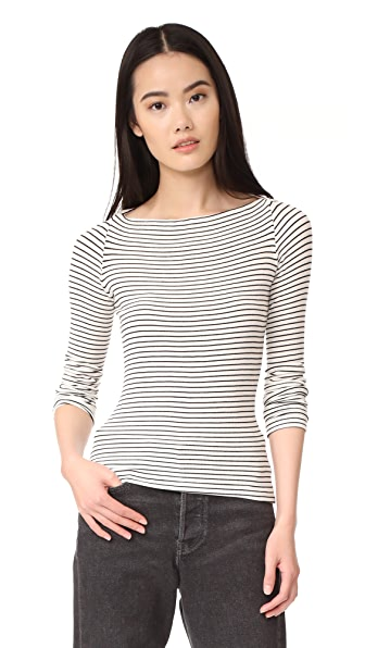 GETTING BACK TO SQUARE ONE St. Germain Sweater - Black Vanilla Ice Stripe